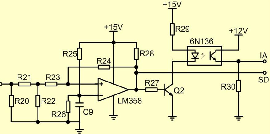 过流保护电路就是当电鱼机前极逆变部分或是后级电路